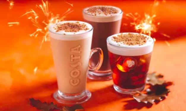 COSTA COFFEE LAUNCHES SMOKIN' NEW MENU FOR AUTUMN